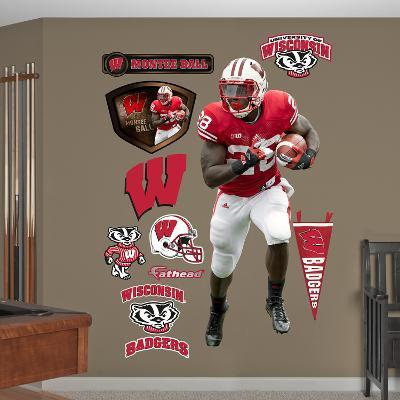 NCAA Montee Ball Wisconsin Badgers Wall Decal Sticker