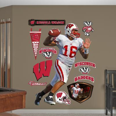 NCAA Russell Wilson Wisconsin Badgers Wall Decal Sticker
