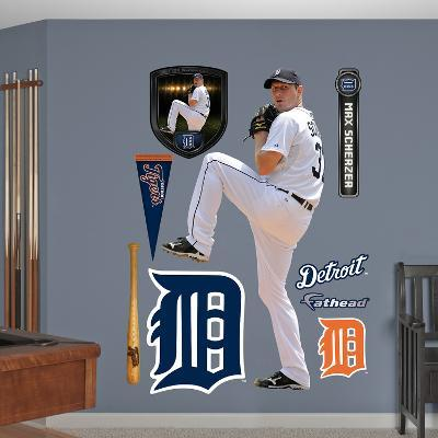 Detroit Tigers Max Scherzer Wall Decal Sticker