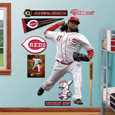 Cincinnati Reds Johnny Cueto Wall Decal Sticker