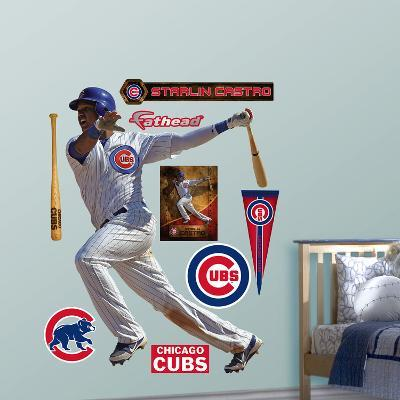 Chicago Cubs Starlin Castro Wall Decal Sticker