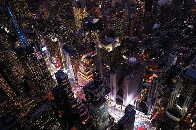 New York Times Square Aerial Photo Poster