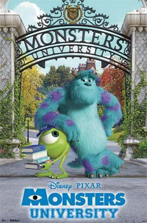 Monsters University - Campus Movie Poster