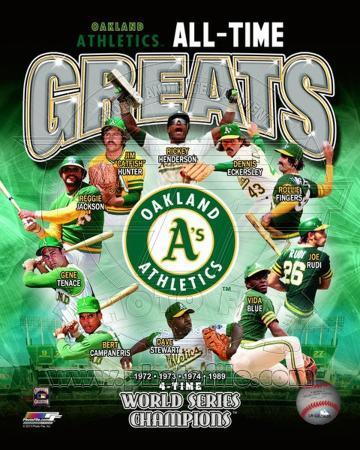 Oakland Athletics All Time Greats Composite