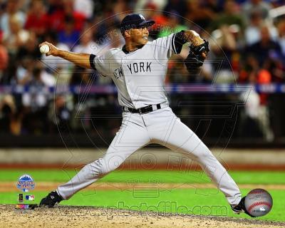 New York Yankees Mariano Rivera #42 pitching during the 84th MLB All-Star Game on July 16, 2013