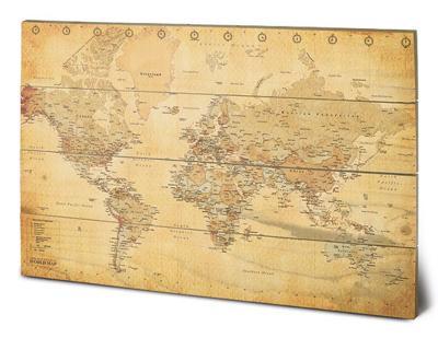 World Map (Vintage Style)
