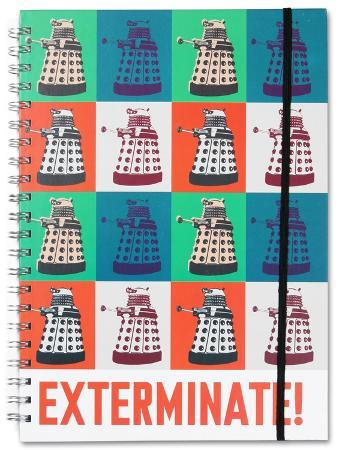 Doctor Who Exterminate A4 Notebook