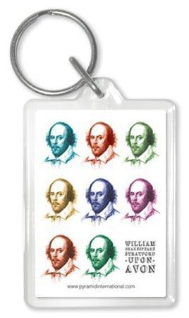 Shakespeare - Pop Art Acrylic Keychain