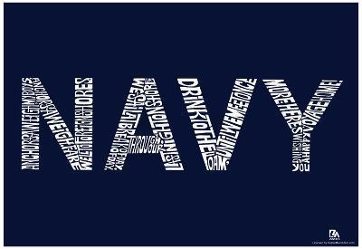 Navy Anchors Aweigh Lyrics Poster