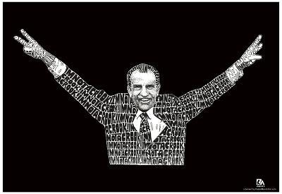 Nixon I'm Not a Crook Text Poster