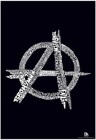 Anarchy Punk Songs White Text Poster