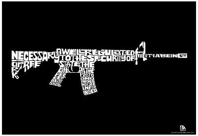 Second Amendment Text Poster
