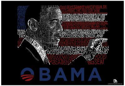 Obama America the Beautiful Lyrics Poster