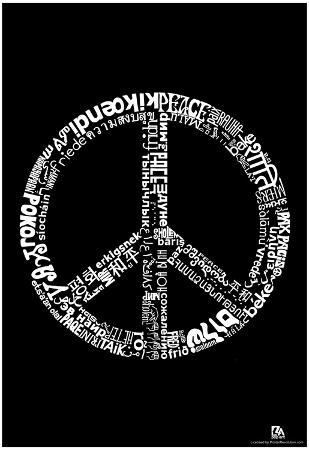 Peace 77 Languages Text Poster