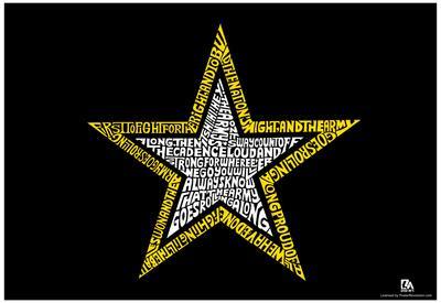 Army Song Lyrics Star Poster