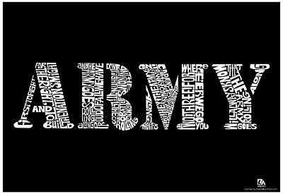 Army Song Lyrics Poster