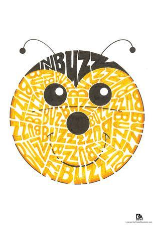 Bee Buzz Text Poster