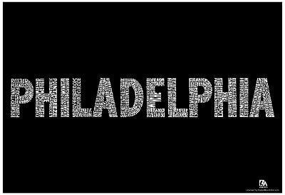 Philadelphia Neighborhoods Text Poster