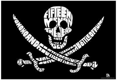 Fifteen Men On A Deadman's Chest Lyrics Poster
