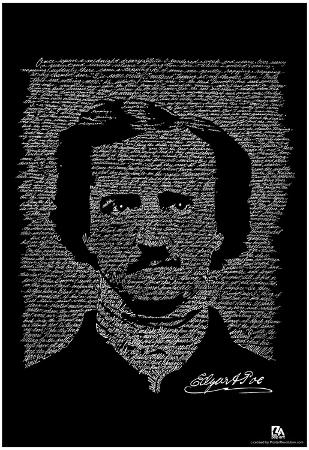 Edgar Allan Poe The Raven Text Poster