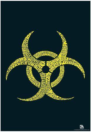 Biohazard Text Poster