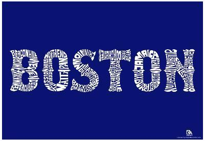Boston Neighborhoods Text Poster