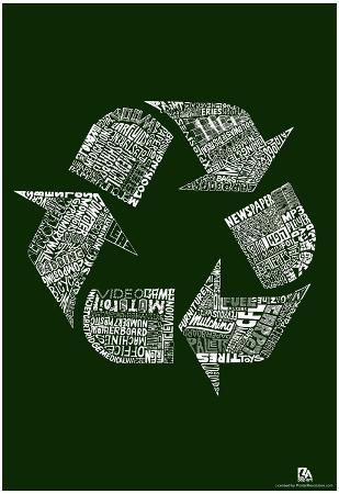 Recycle Text Poster