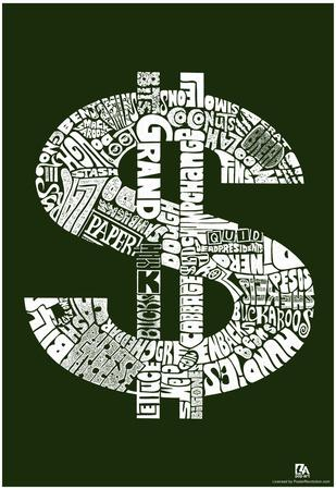 Money Slang Text Poster