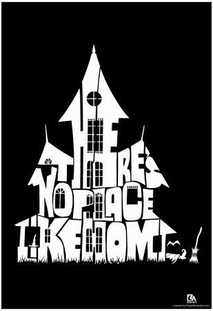 Witch's House There's No Place Like Home Text Poster