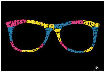 Glasses Text Poster