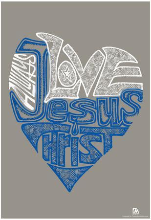 Love Jesus Text Poster