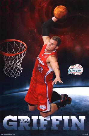 Blake Griffin Los Angeles Clippers NBA Sports Poster