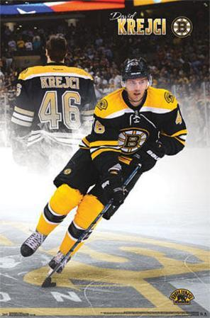 David Krejci Boston Bruins NHL Sports Poster