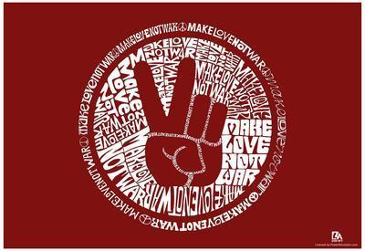 Make Love Not War Text Poster