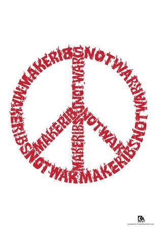 Make Ribs Not War Text Poster