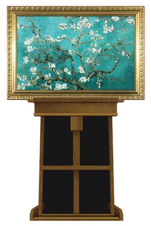 Almond Branches by Vincent van Gogh on Museum Easel Fine Art Lifesize Standup