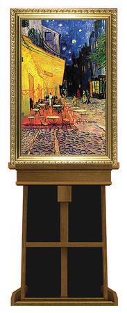 Cafe Terrace at Night by Vincent van Gogh on Museum Easel Fine Art Lifesize Standup