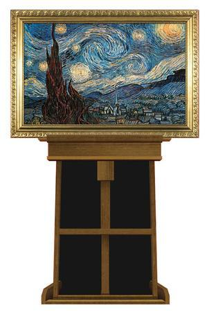 Starry Night by Vincent van Gogh on Museum Easel Fine Art Lifesize Standup