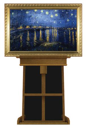 Starry Night Over the Rhone by Vincent van Gogh on Museum Easel Fine Art Lifesize Standup