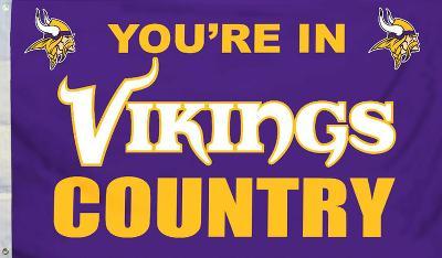 NFL Minnesota Vikings Flag with Grommetts