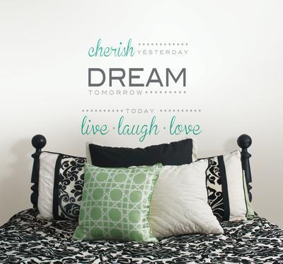 Cherish Dream Live Wall Decal Sticker Quote