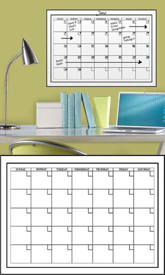 White Dry Erase Calendar Wall Decal Sticker Wall Decal At