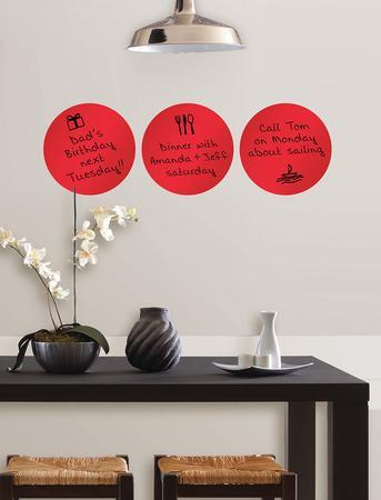 Red Hot Dry-Erase Dots Wall Decal Sticker