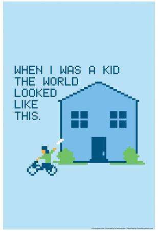 When I Was a Kid Snorg Tees Poster