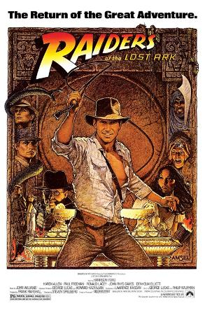Raiders of the Lost Ark Movie (Harrison Ford with Whip) Poster Print