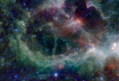 Heart Nebula in Cassiopeia Constellation Space