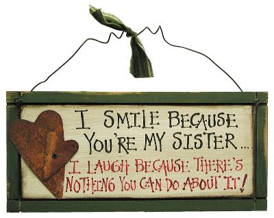 Sister Wood Sign