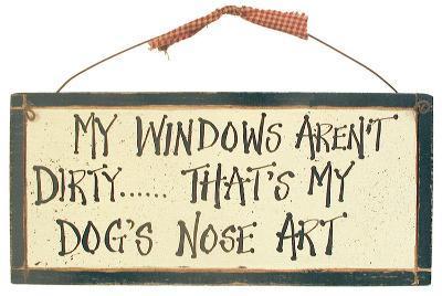 Dog Art Wood Sign