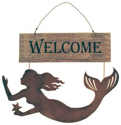 Mermaids Welcome Wood Sign