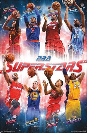 NBA Superstars Sports Poster